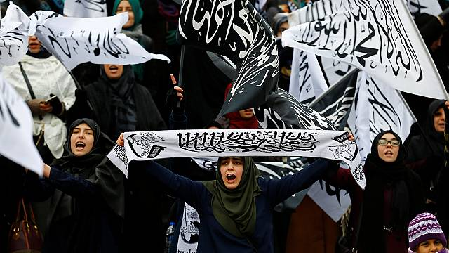 Акция протеста у консульства Ирана в Стамбуле