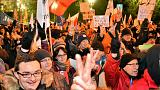 بولندا: احتجاج ليلي أمام البرلمان ضد تقييد الإعلام