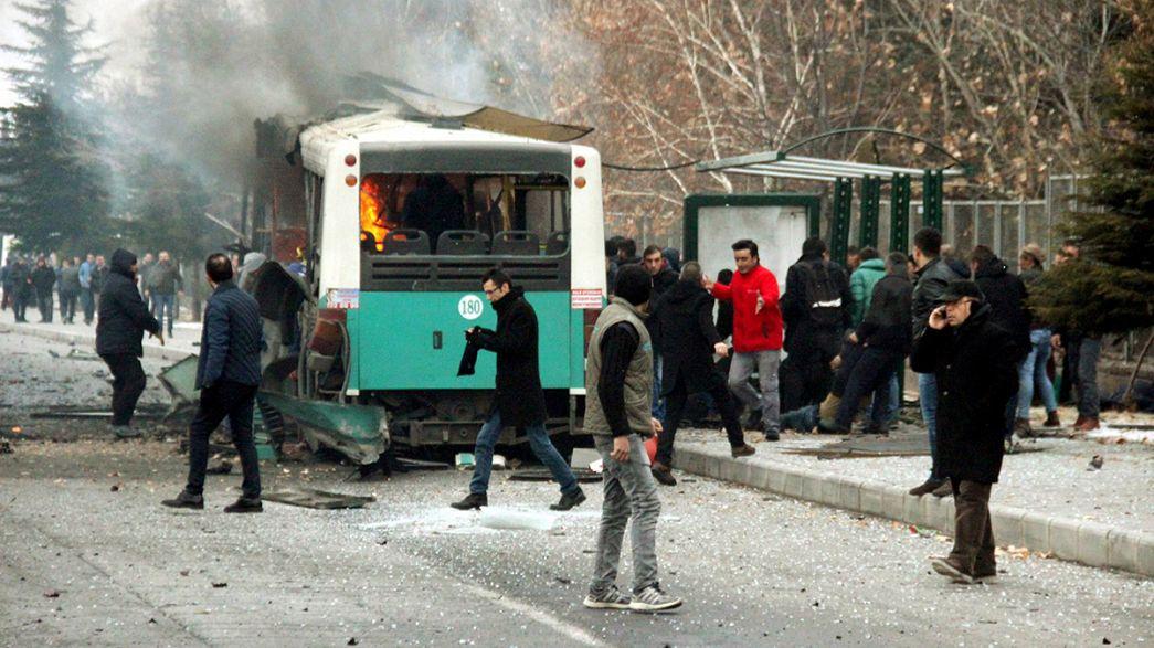 Turkey blames PKK for deadly car bomb attack in Kayseri