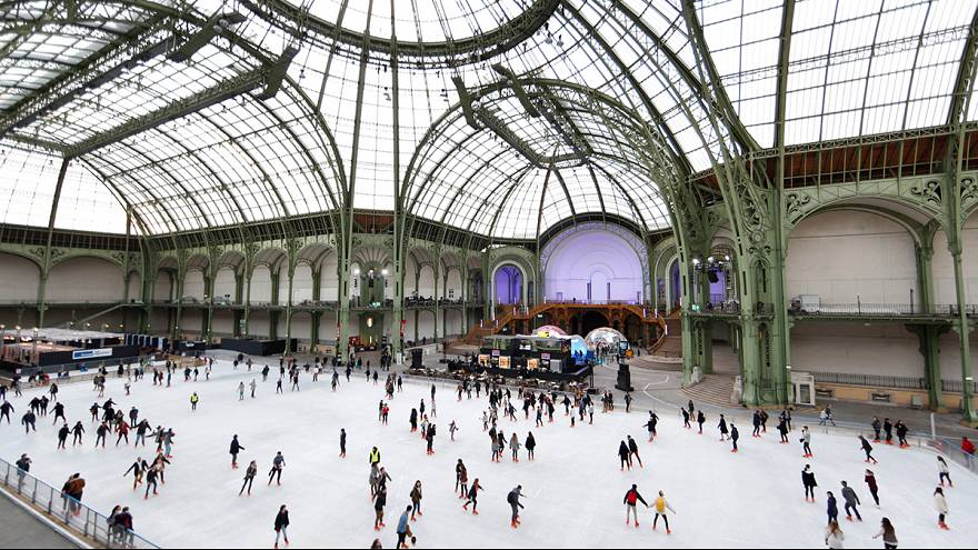 Patinage au Grand Palais des glaces