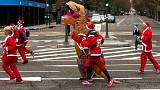 Santa Claus is coming to town: Madrid charity race attracts 12,500 lookalikes