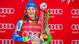 Miklós Edit a 12. helyen végzett az alpesi sí világkupán