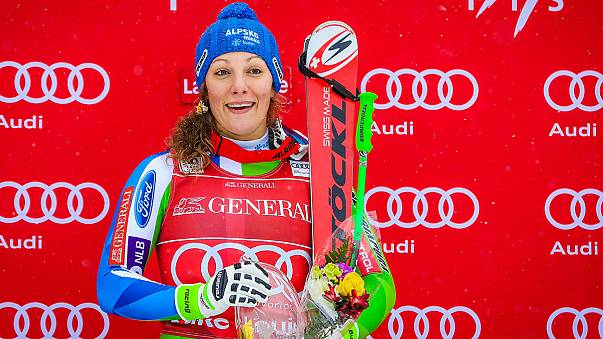 Alp disiplininde Slovenyalı Ilka Stuhec bu sene 3. kez podyumu zirvede tamamladı