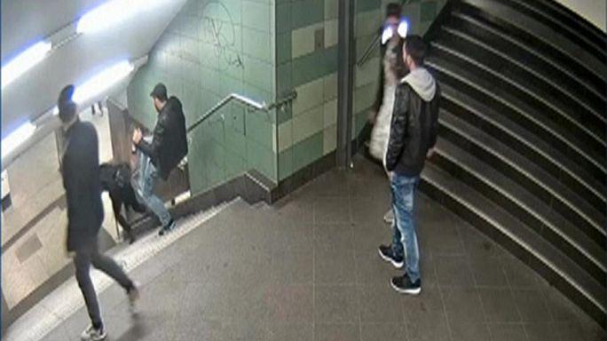 Berlin'de metro istasyonunda bir kadını tekmeleyen zanlı yakalandı