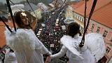 Angels descend from on high in Czech Republic
