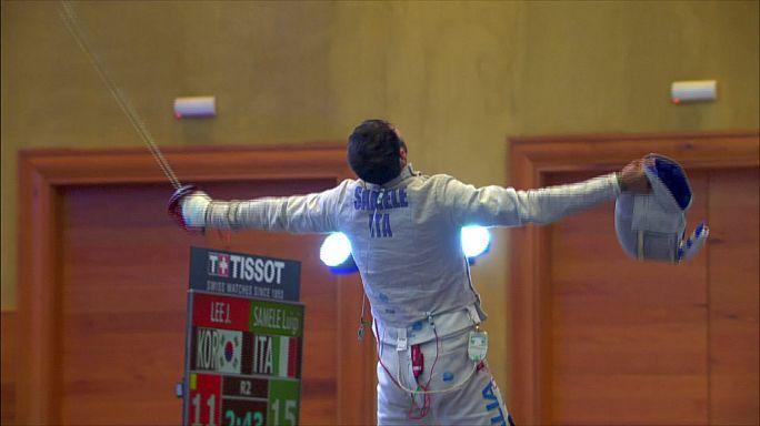 Luigi Samele se corona en el Gran Premio de México de esgrima