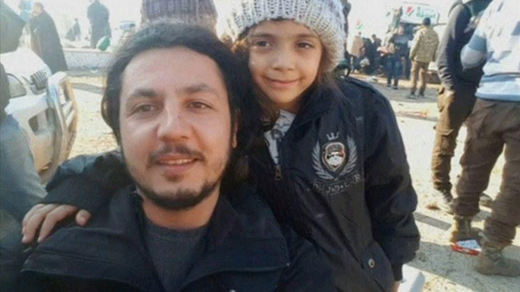 Bana Alabed, famosa pelos apelos no Twitter, retirada do leste de Alepo