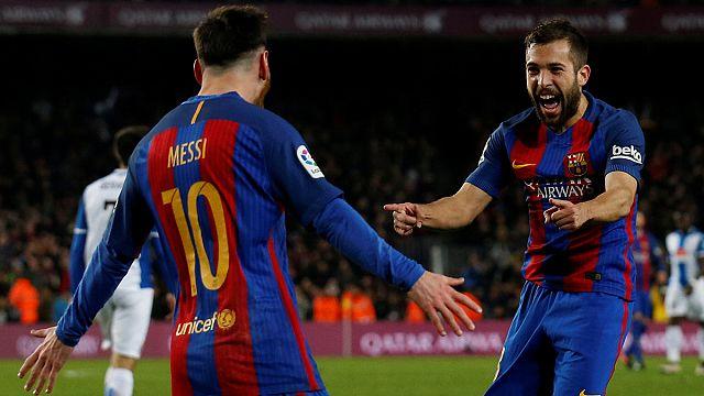 Leo Messi brilla ante el Espanyol