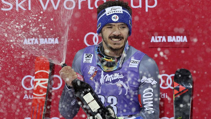 Sarrazin stuns stars by winning Parallel Giant Slalom in Italy