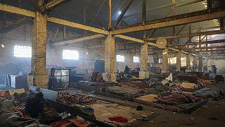 Белград: нелегалы обустраиваются в стихийно созданном лагере