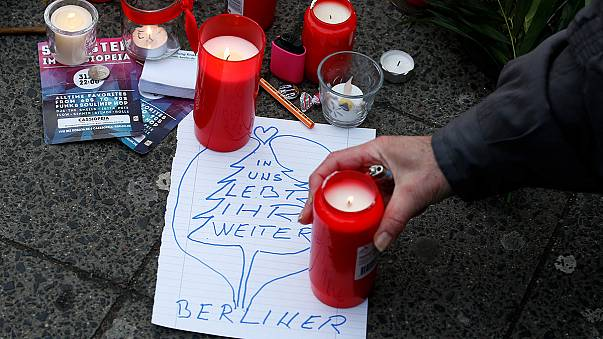 Messages for the victims of Berlin flood social media