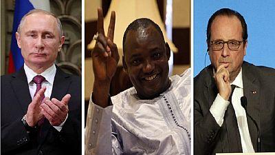 Présidentielle Gambienne : Poutine félicite Barrow, Hollande demande son investiture