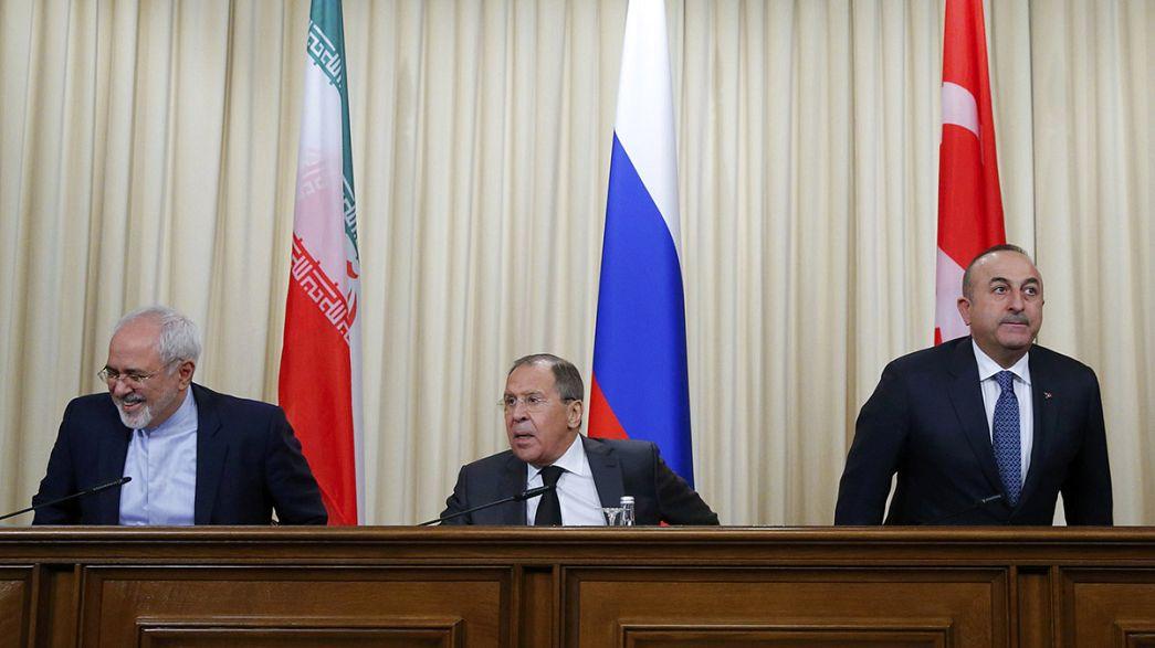 Déclaration de Moscou : pour un plan de paix russo-irano-turc en Syrie