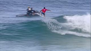 Surfing: Bourez upsets the big guns to win Banzai Pipeline