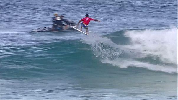 Surfing: Bourez upsets the big guns to win Banzai Pipeline