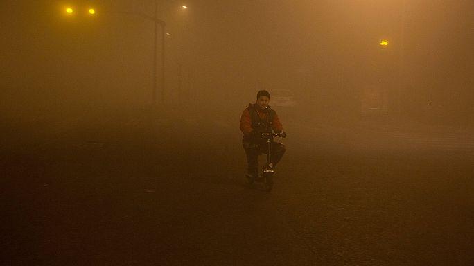 """China: Smogalarm höchste Warnstufe """"Rot"""""""