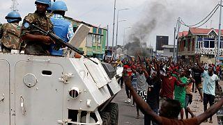 Demokratik Kongo'da protesto gösterileri şiddete dönüştü