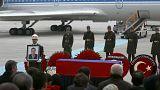 Гроб с телом Андрея Карлова доставлен из Анкары в Москву