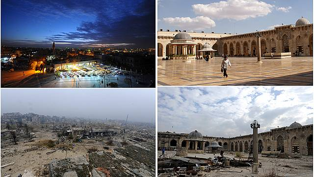 سوريا: وجه حلب قبل وبعد المعارك عبر الصور