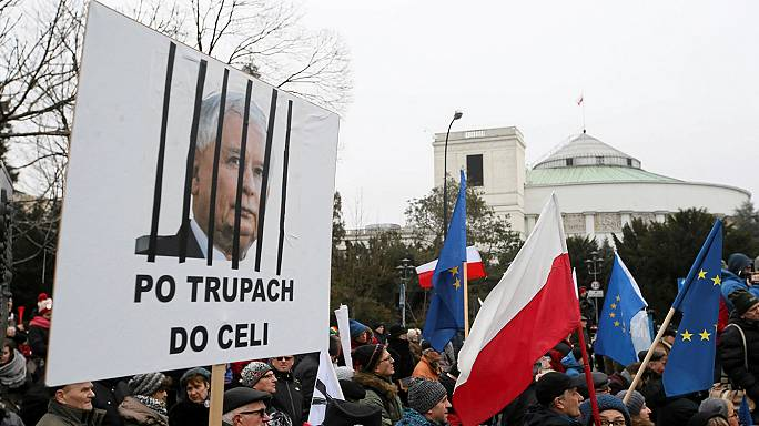 Poland's opposition blockades parliament as Brussels voices concern over rule of law