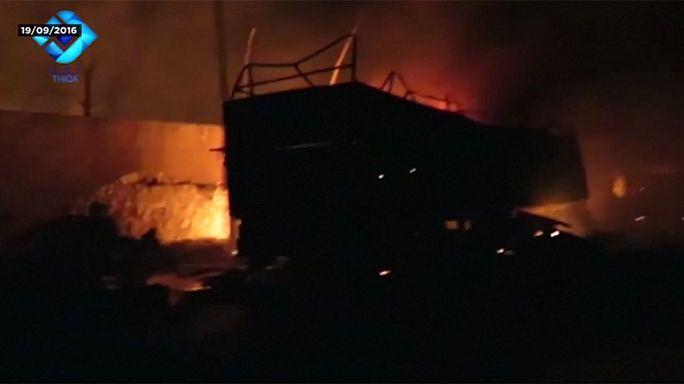 Nazioni Unite: fu un attacco aereo a distruggere un convoglio di aiuti umanitari il 19 settembre vicino Aleppo