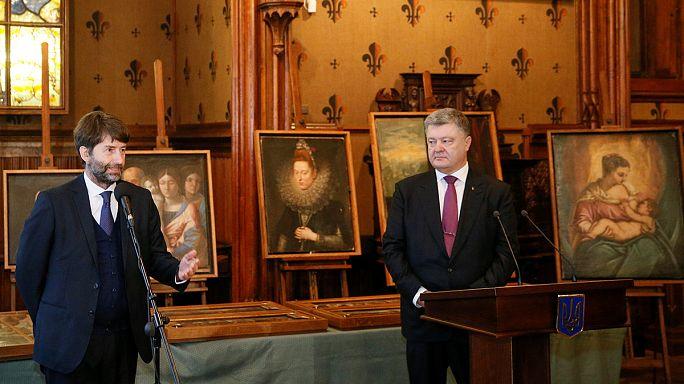 Италия: 17 похищенных картин великих мастеров вернулись из Киева в Верону