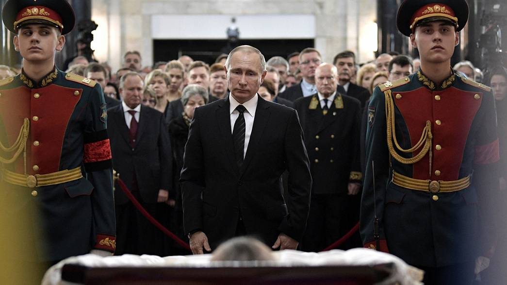 Ceremony for slain ambassador Andrei Karlov begins in Moscow