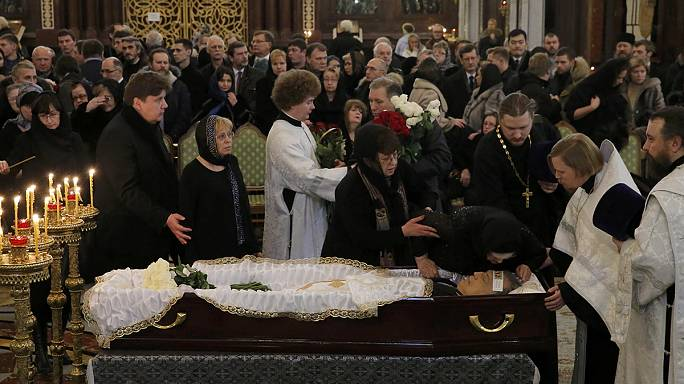 Russia lays to rest slain envoy to Turkey