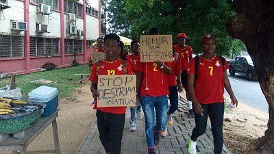 Ghana : l'équipe nationale féminine de Football marche pour réclamer le paiement de primes