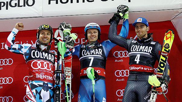 Kristoffersen wins second straight Madonna di Campiglio slalom