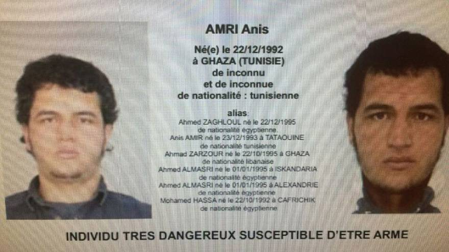 Berlin attack suspect Anis Amri shot dead by police in Milan