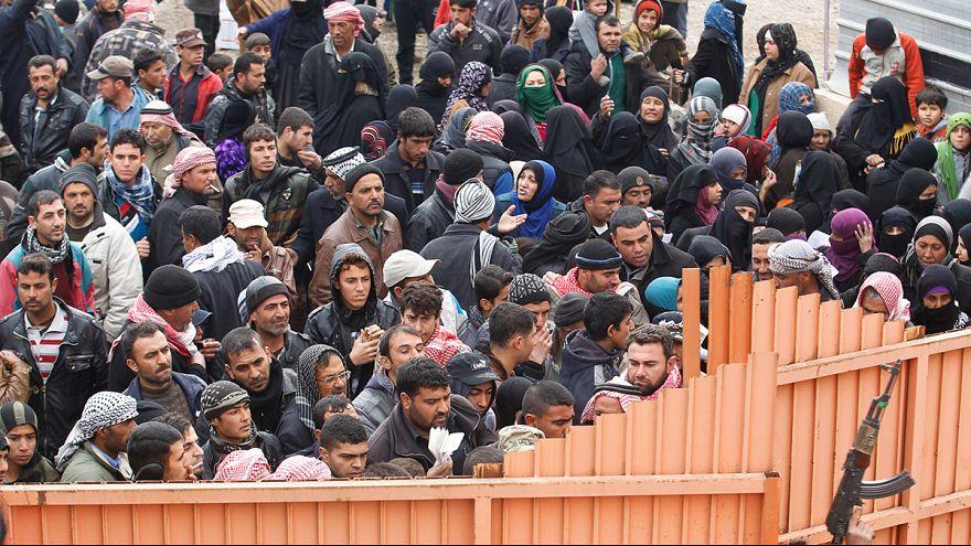 El crudo invierno de los desplazados de Mosul