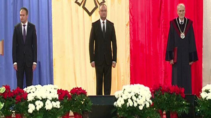 Le nouveau président moldave est intronisé