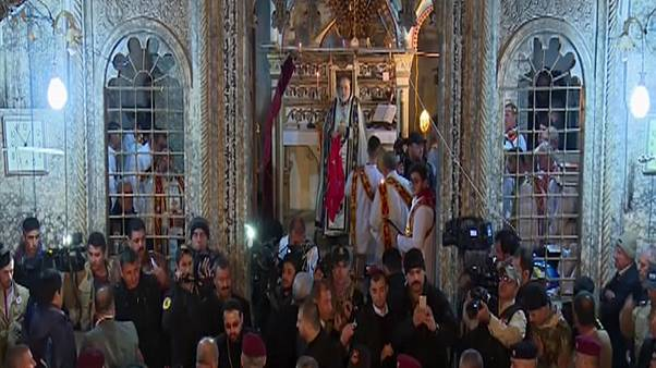 Iraq: Christmas service held in Bartella, recently liberated from ISIL
