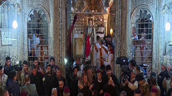 مسيحيو الموصل يقيمون أول قداس للميلاد بعد غياب قسري لأكثر من عامين