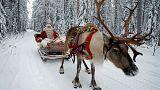 Babbo Natale in viaggio con i regali