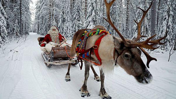 Der Weihnachtsmann geht in die Arbeit