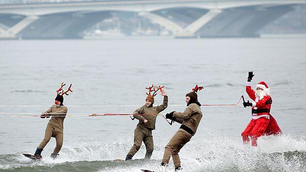 Papa Noel navega el río Potomac