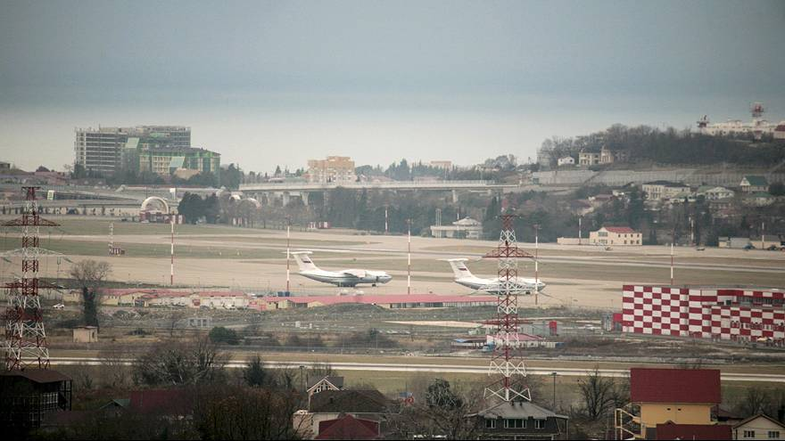 Russian military plane carrying army choir crashes near Sochi