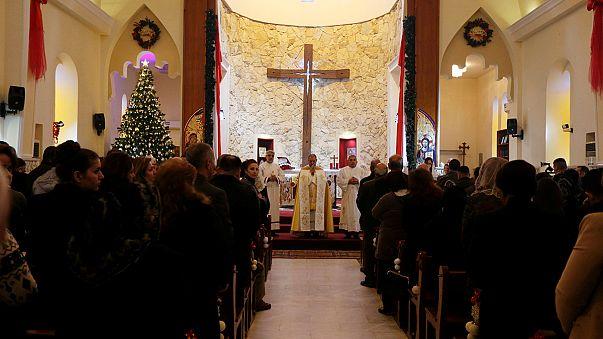 مسيحيو نينوى شمال العراق يقيمون قداس الميلاد لأول مرة