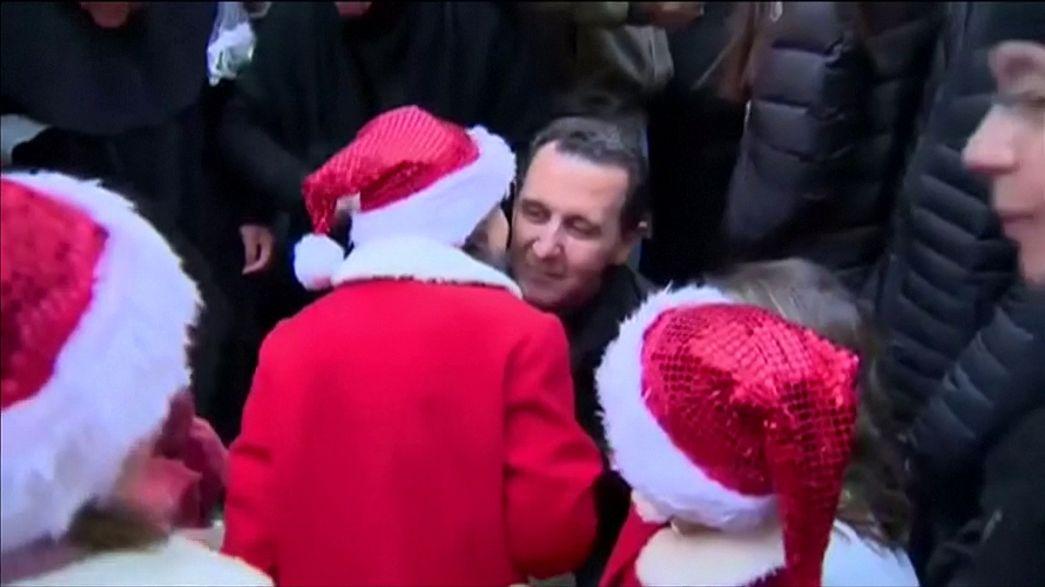 الأسد يظهر في احتفال لعيد الميلاد في سوريا