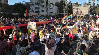 Az egyneműek házassága mellett és ellen is tüntettek Tajvanon
