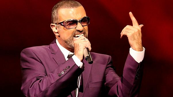 George Michael en concert à Prague en 2011