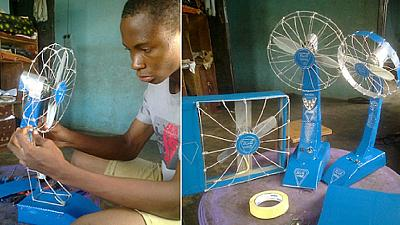 13-year-old Nigerian boy invents fan that lasts hours without electricity