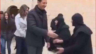 Syrie : Assad visite un couvent le jour de Noël