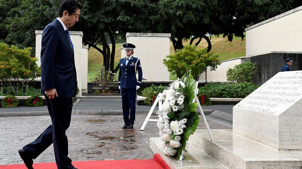 Pearl Harbor: Shinzo Abe e Barack Obama em Honolulu