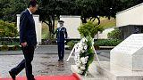 Shinzo Abe rend hommage aux victimes de guerre à Hawaï