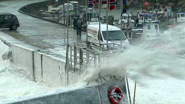 Storm Urd lashes Scandinavian coast