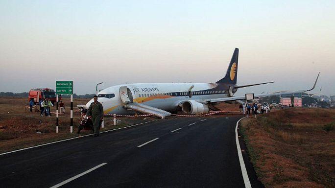 Plane crashes on takeoff at Goa airport - 15 injured