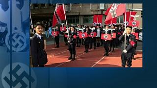 Náci parádét tartott kisdiákokkal egy tajvani iskola